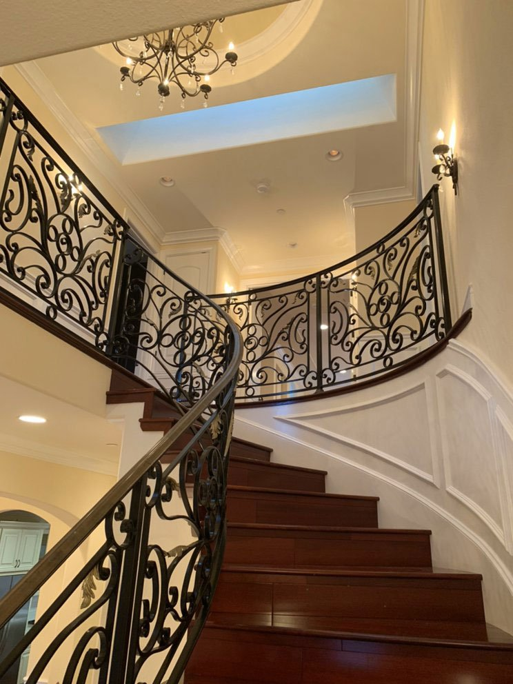 interior painting of stairway